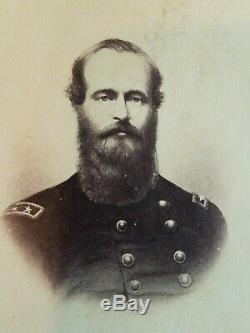 CDV Ulysses S Grant Civil War Photo Young General Original Charles Taber Co Old