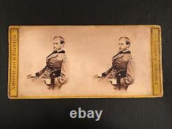 CIVIL WAR STEREOVIEW of GENERAL W. T. SHERMAN / E. & H. T. ANTHONY / REVENUE ST