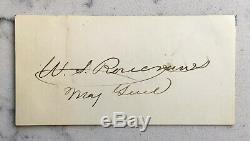 CIVIL War Autograph Clipped Signature Signed Major General William Rosecrans