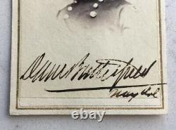 CIVIL War Autograph Signed Union General Daniel Butterfield CDV Photograph