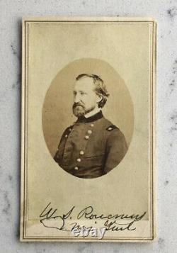 CIVIL War Autograph Signed Union Major General William Rosecrans CDV Photograph