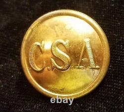 CIVIL War Confederate Army General Service C S A Button Albert# Cs-81-a1
