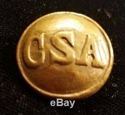 CIVIL War Confederate Army General Service C S A Button Albert# Cs-81-d