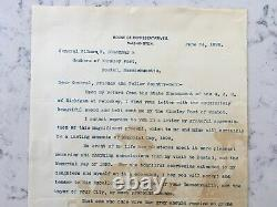 CIVIL War Confederate General Fighting Joe Joseph Wheeler Tls Signed Letter 1899