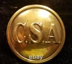 CIVIL War Confederate General Service C S A Button Albert# Cs-81-a Buckley Bm