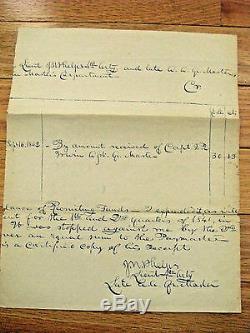 CIVIL War Emancipation Proclamation General John W Phelps Signature
