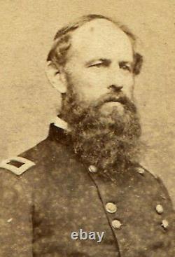 CIVIL War General E. B. Tyler, 7th Ohio. Signed By Tyler. CDV By Brady
