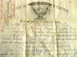 CIVIL War General George Sykes Sgd Minnesota Discharge