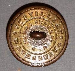 CIVIL War General Staff Button'scovills & Co/ Waterbury / Extra Superfine