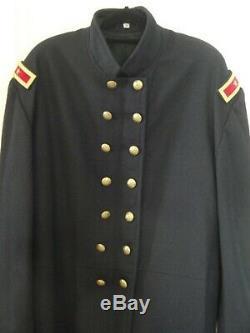CIVIL War Reenactment Union Wool Brigadier General Artillery Frock Coat Size 46