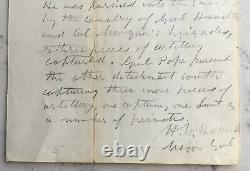 CIVIL War Union General Henry Halleck Signed Letter Jeff Thompson Pea Ridge