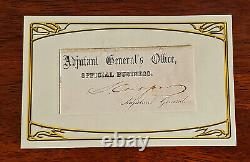 CONFEDERATE GENERAL CSA Samuel Cooper Civil War Autograph AUTHENTIC Highest Rank