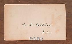 CONFEDERATE GENERAL Matthew Butler Civil War Autograph AUTHENTIC + Original Pic