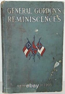 CONFEDERATE MEMOIRS Civil War GENERAL GORDON Lee Grant ALABAMA REGIMENT History