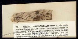 CSA Civil War Confederate General James Ewell Brown Jeb Stuart Autograph 92882