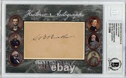 CSA General Simon Buckner Cut Signature Historic Autographs Civil War (Beckett)