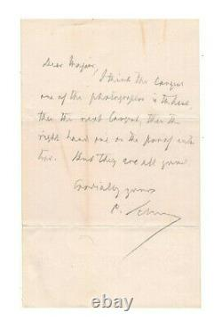 Carl Schurz Civil War General Autographed Letter Authentic