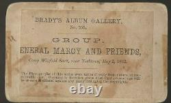 Civil War 1862 Brady View of General Marcy and Foreign Military Observers in VA