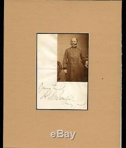 Civil War CDV/Autograph General Ambrose Burnside