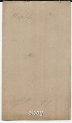 Civil War CDV Confederate General Henry Heath, Salt Print