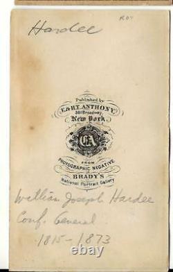 Civil War CDV Confederate General William J Hardee
