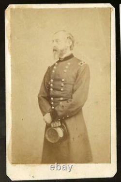 Civil War CDV Fascinating 2 Sided CDV General Meade & Officer, rarely seen