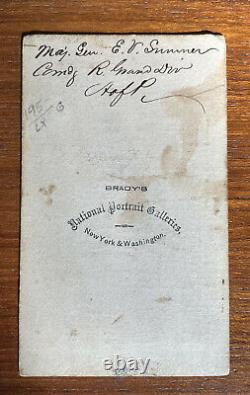 Civil War CDV Major General Sumner Bradys Galleries Identified In Period Ink