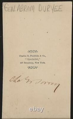Civil War CDV Union General Abram Duryee 5th NY Zouaves WIA Antietam
