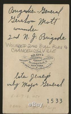 Civil War CDV Union General Gershom Mott NJ
