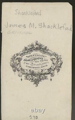 Civil War CDV Union General James Schackleford Captured Morgan