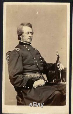 Civil War CDV Union General Joseph Hooker as Honor Guard for Lincoln's Body Rare