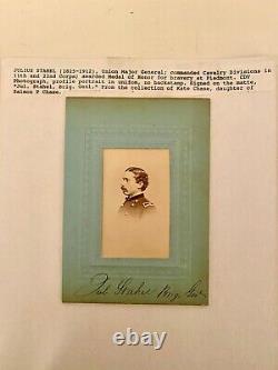 Civil War CDV of Julius Stahel, signed on mount as Brigadier General