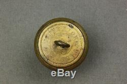 Civil War CSA General Service Button With Certificate Of Authenticity