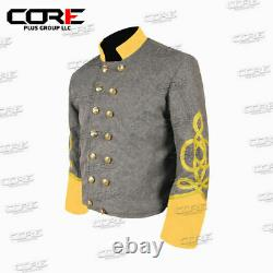Civil War Confederate Cavalry General 4 braid Shell Jacket -All Sizes Available