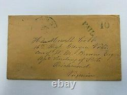 Civil War Confederate Cover General Howell Cobb Richmond Postmaster