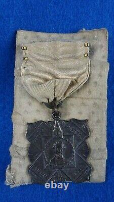 Civil War Confederate General Nathan Bedford Forrest Veteran Pinback Medal
