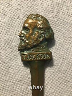Civil War Confederate General T. Jackson (Stonewall) Bronze Metal Letter Opener