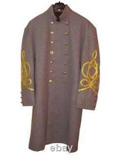 Civil War Confederate Major-Colonel / General Frock Coat 3/4 Braids-All size