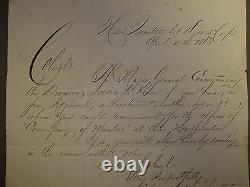 Civil War Document General Hancock to Col. Beaver 148th Pa. Dated April 4th 1863
