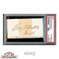 Civil War General Benjamin Butler Signed Autographed Card PSA/DNA