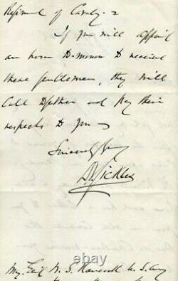 Civil War General Daniel Sickles Gettysburg ALS 1880