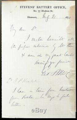 Civil War General George McClellan ALS to Former Major James P Kimball 1870