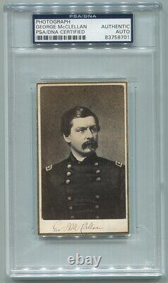 Civil War General George McClellan CDV Photograph Signed