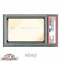 Civil War General James Longstreet Twice Signed Autographed Card PSA/DNA
