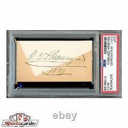 Civil War General P. G. T. Beauregard Signed Autographed Card PSA/DNA