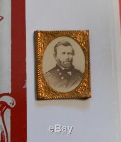 Civil War General President Ulysses S Grant Political Campaign Gem Shell CDV