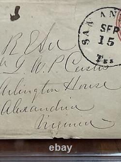 Civil War General ROBERT E. LEE Signed Envelope with Washington Stamp PSA 8