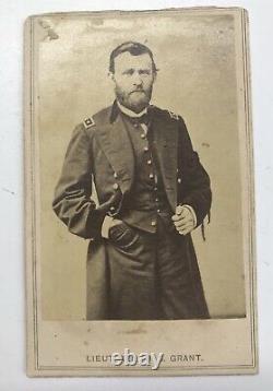 Civil War General Ulysses Grant Wearing President Lincoln Mourning Band CDV