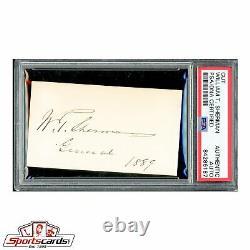 Civil War General William T. Sherman Signed Autographed Card PSA/DNA