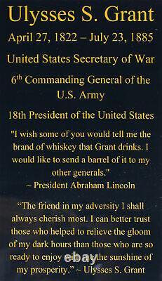 Civil War Generals Ulysses S. Grant & Robert E. Lee Signed Framed Display BAS